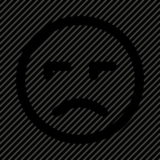 attitude, bad, dislike, emoji, emoticon, faces, sad icon