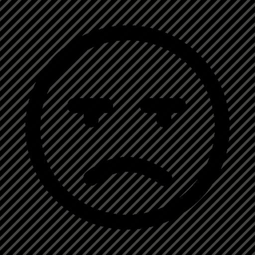 anger, bad, dislike, emoji, emotag, emoticon, sad icon