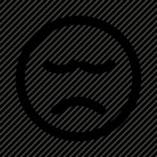 bad, dislike, emoji, emotag, emoticon, faces, sad icon