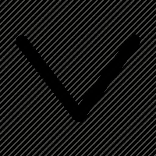 arrow, beneath, bottom, depressed, down, lower, under icon