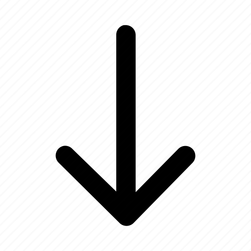 command, direction, downarrow, downkey, key, order, supervision icon