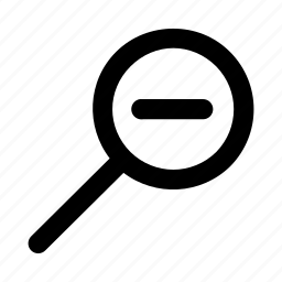 decrease, magnify, minimize, reduce, zoom, zoomout icon