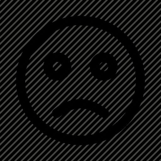 bad, boring, emoji, emotag, emoticon, faces, sad icon