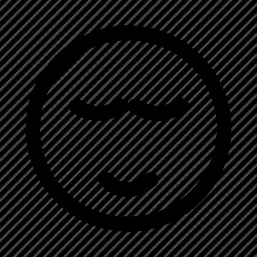emoji, emotag, emoticon, faces, relax, sleep, smiley icon