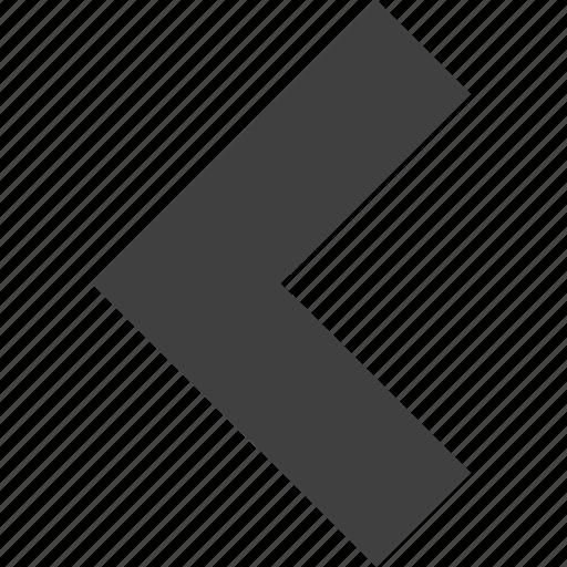 arrow, back, direction, left, move, previous, ui icon