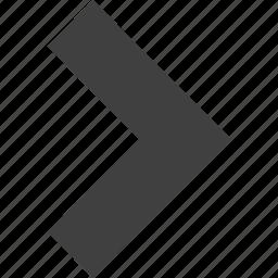 direction, forward, move, next, right, ui icon