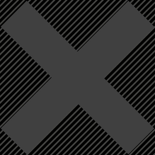 cancel, close, cross, delete, exit, stop, ui icon