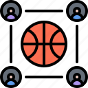 ball, basketball, group, player, sport, team