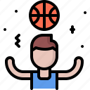 ball, basketball, player, sport, win, winner icon