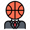 ball, basketball, head, man, player, sport, suit