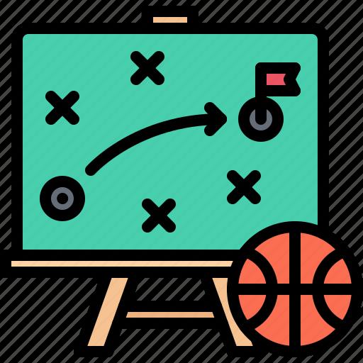 ball, basketball, blackboard, board, player, sport, strategy icon