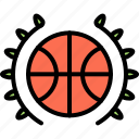 award, badge, ball, basketball, player, sport, win icon