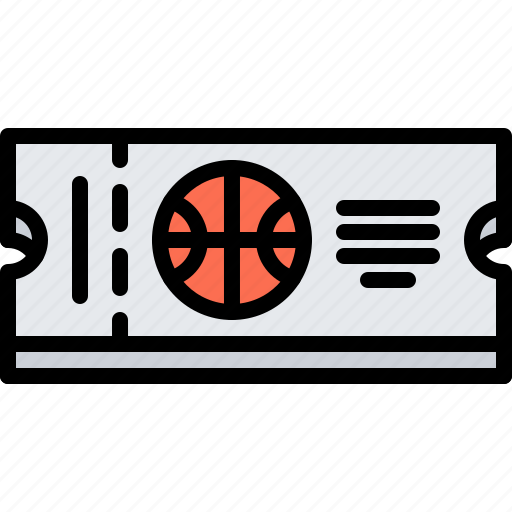 ball, basketball, player, sport, ticket icon