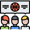 ball, basketball, dialog, match, player, sport, talk