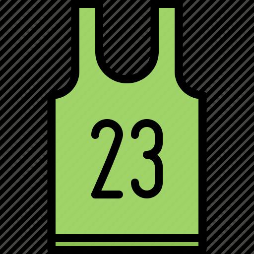 ball, basketball, player, shirt, sport, uniform icon