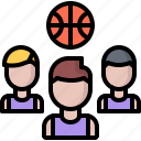 ball, basketball, man, player, sport, team icon