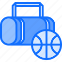 bag, ball, basketball, player, sport, workout icon