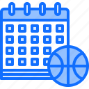ball, basketball, calendar, date, match, player, sport