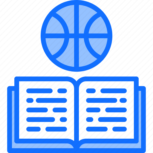 ball, basketball, book, education, player, sport icon
