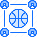 ball, basketball, group, player, sport, team icon