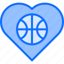 ball, basketball, heart, love, player, sport icon