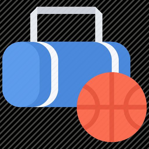 bag, ball, basketball, player, sport, workout icon