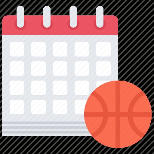 ball, basketball, calendar, date, match, player, sport icon