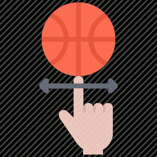 ball, basketball, finger, player, rotation, sport icon