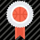 award, badge, ball, basketball, pin, player, sport icon