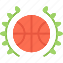 award, badge, ball, basketball, player, sport, win icon