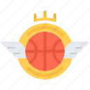 badge, ball, basketball, emblem, player, sport, team icon