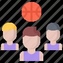 ball, basketball, man, player, sport, team icon