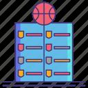 league, leaderboard, basketball icon