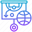 ball, basketball, board, strategy, tactic icon