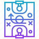 basketball, field, sport, tactic icon