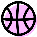 basketball, filled, set icon