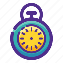 ball, basket, flat, icon, sport, stopwatch icon