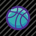 ball, basket, flat, icon, sport icon