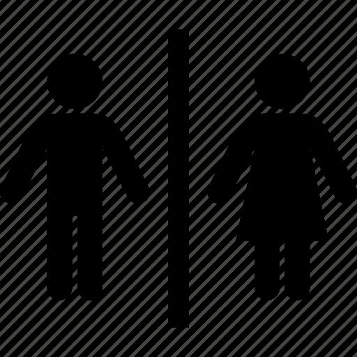 bathroom, man, restroom, sanitary, signal, woman icon