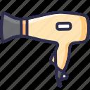 appliance, blow, dryer, fan, hair, hairstyle, salon icon