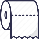 paper, toilet, roll, hygiene icon