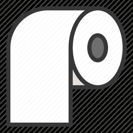 bathroom, tissue, tissue roll, toilet paper icon