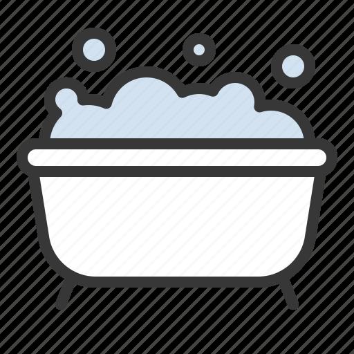 bath, bathroom, bathtub, bubble icon
