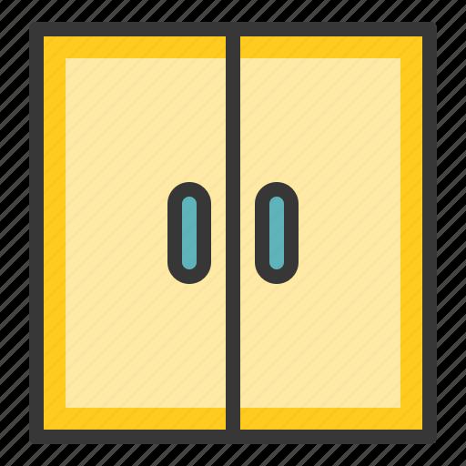 bathroom, cabinet, furniture, storage, wardrobe icon