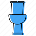 bath, bathroom, equipment, lavatory, restroom, toilet icon
