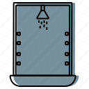 bathroom, cabin, equipment, shower, shower cabin, toilet icon