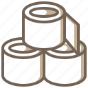clean, miscellaneous, paper, toilet, tools, utensils icon