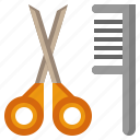 beauty, comb, grooming, hair, salon, scissors icon
