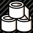 clean, miscellaneous, paper, toilet, tools icon