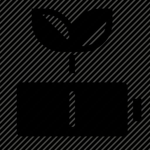 battery, green, leaf icon